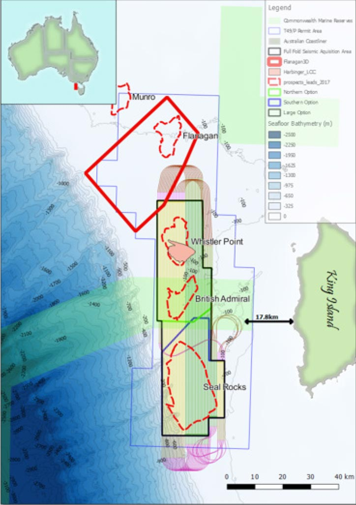 Dorrigo 3D Marine Seismic Survey area approved by NOPSEMA.